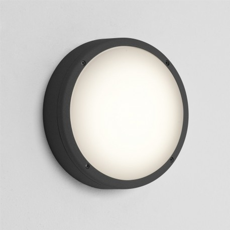 Round Outdoor Wall Light Black – Astro 7122 With Round Outdoor Wall Lights (View 2 of 10)