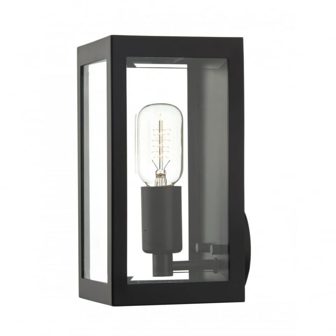 Rustic Black Box Outdoor Wall Light - Ip44 Rated For Safe Outdoor Use. pertaining to Black Outdoor Wall Lighting (Image 8 of 10)