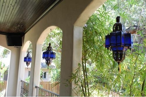 Rustic Lighting: Rustic Hanging Lamps, Outdoor Lighting, Home Decor for Outdoor Hanging Moroccan Lanterns (Image 10 of 10)