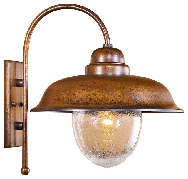 Rustic Outdoor Wall Lights - The Inside Edge in Rustic Outdoor Wall Lighting (Image 6 of 10)