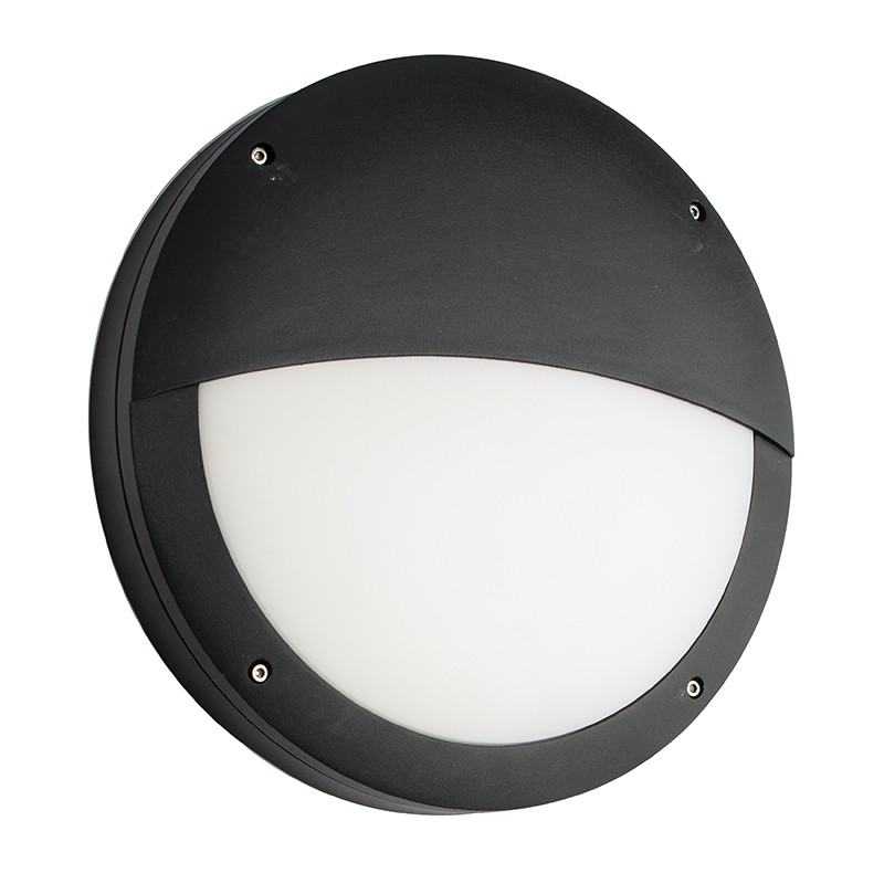 Saxby 61759 - Luik Eyelid Em Ip65 18W And 0.7W Textured Black Paint throughout Ip65 Outdoor Wall Lights (Image 8 of 10)