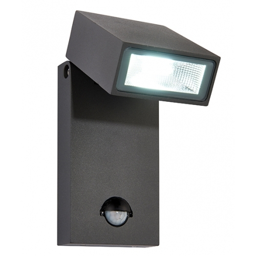 Saxby Lighting Morti Pir Wall Light, Outdoor Led Wall Lights, 67686 Uk in Outdoor Led Wall Lights With Pir (Image 8 of 10)