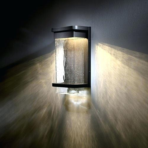 Sconces ~ Contemporary Exterior Wall Sconces Blurring Vitrine With within Quality Outdoor Wall Lighting (Image 7 of 10)