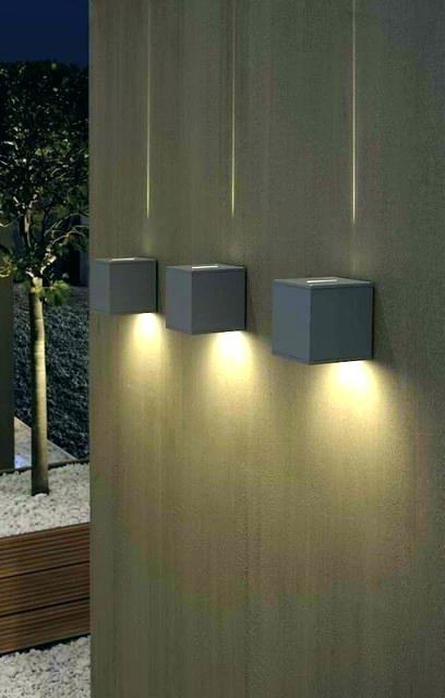 Sconces ~ Contemporary Outdoor Sconces Contemporary Outdoor Wall Throughout Contemporary Outdoor Wall Lighting (View 10 of 10)