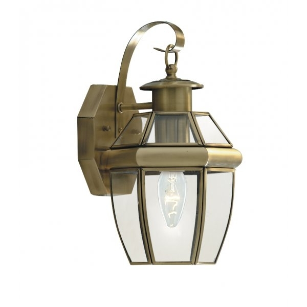 Searchlight 8067ab | 1 Light Traditional Outdoor Wall Light Throughout Brass Outdoor Wall Lighting (View 3 of 10)