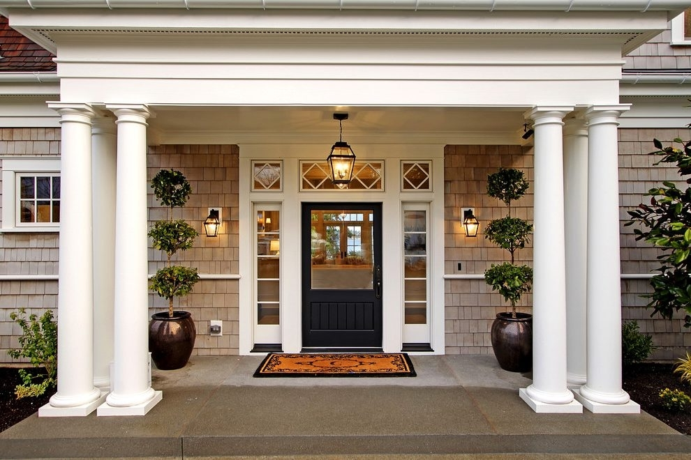 Seattle Front Door Mats Entry Victorian With Sidelights Pink Stained within Front Door Outdoor Hanging Lights (Image 10 of 10)
