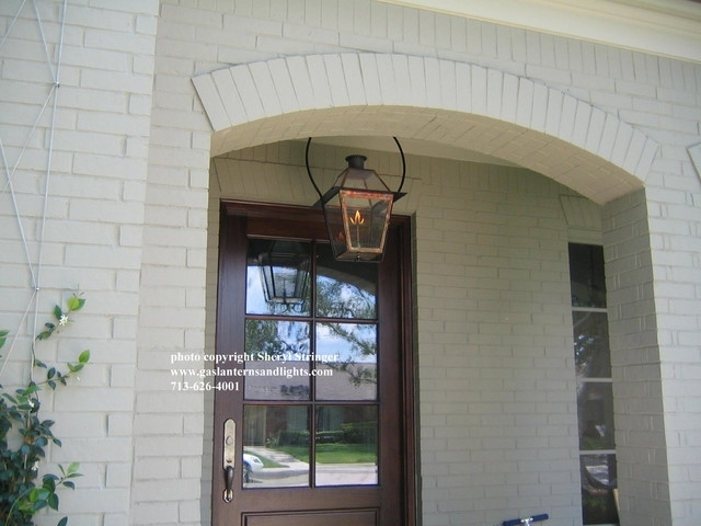 Sheryl's New Orleans Style Gas Lantern With Glass Top Hanging throughout Outdoor Hanging Gas Lights (Image 9 of 10)