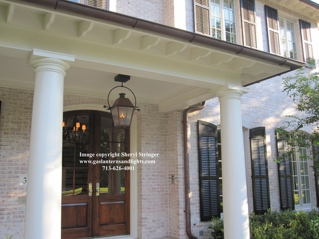 Sheryl's New Orleans Style Gas Lantern With Solid Top Hanging From in Outdoor Hanging Gas Lanterns (Image 9 of 10)