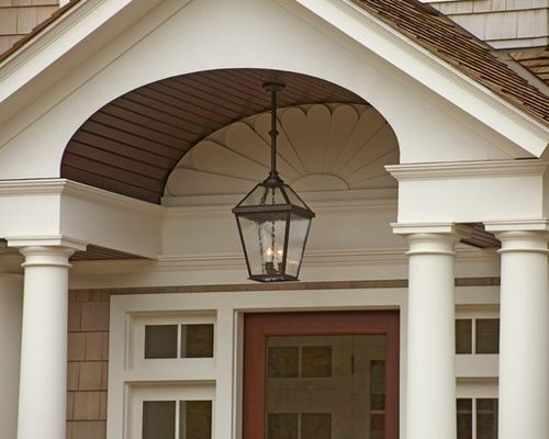 Shingle Style Exterior Lighting Project for Traditional Outdoor Hanging Lights (Image 8 of 10)