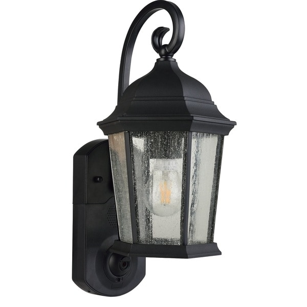 Smart Security Black Glass/plastic Outdoor Wall Light - Free for Plastic Outdoor Wall Light Fixtures (Image 8 of 10)