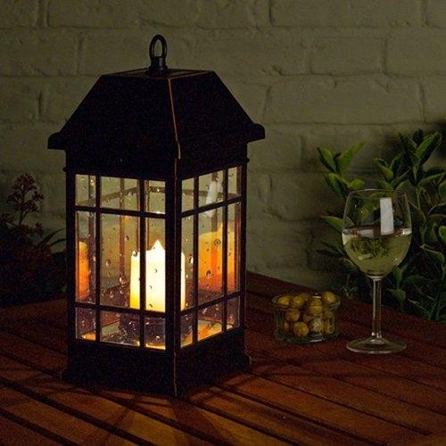 Smart Solar San Rafael Estate Solar Mission Lantern | Hayneedle with Solar Hanging Outdoor Patio Lights (Image 10 of 10)