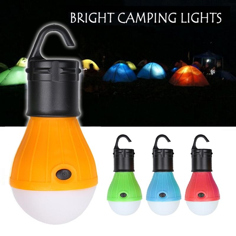 Soft Light Outdoor Hanging Led Camping Tent Light Bulb Fishing with Outdoor Hanging Plastic Lanterns (Image 8 of 10)