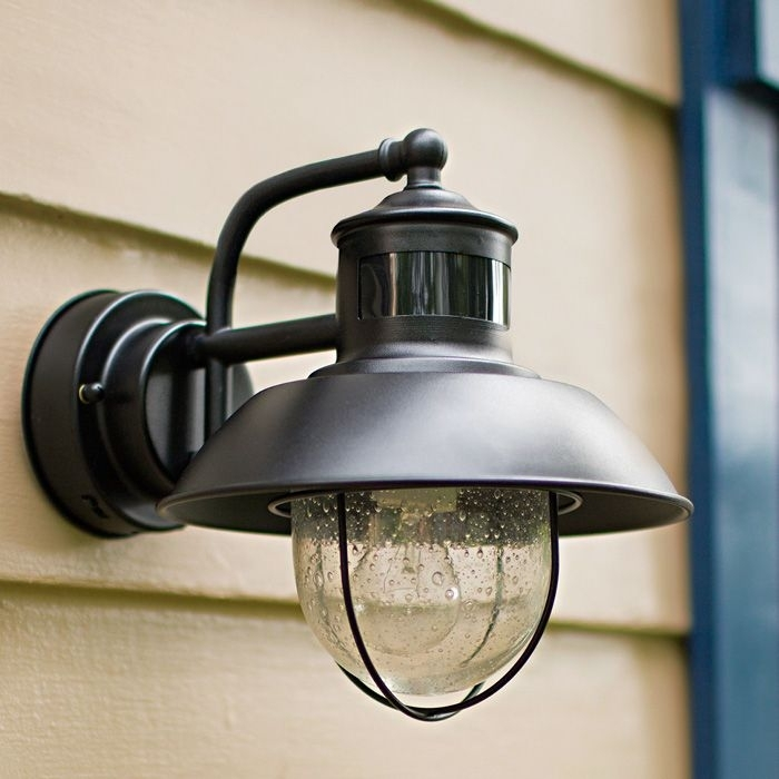 Solar Barn Light With Motion Sensor Beach Style Outdoor Wall in Beach Outdoor Wall Lighting (Image 7 of 10)