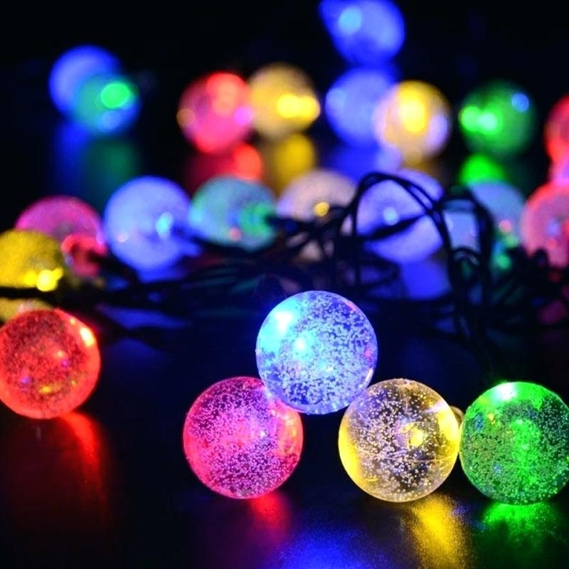 Solar Garden Tree Lights Solar Ball String Waterproof Fairy Bubble with regard to Outdoor Wall Lights at Gumtree (Image 9 of 10)