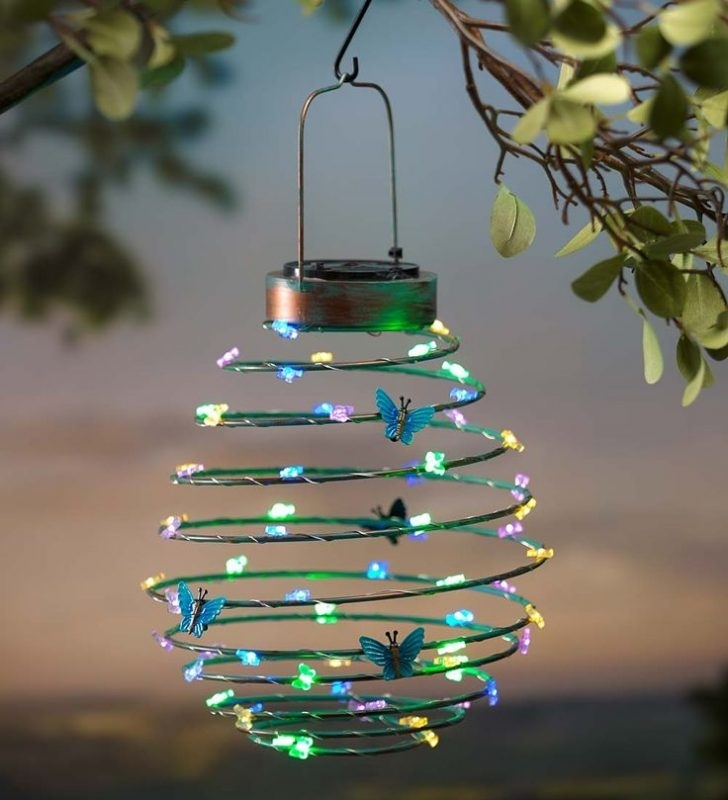 Solar Hanging Garden Lights - Acres Farm regarding Outdoor Hanging Garden Lanterns (Image 7 of 10)