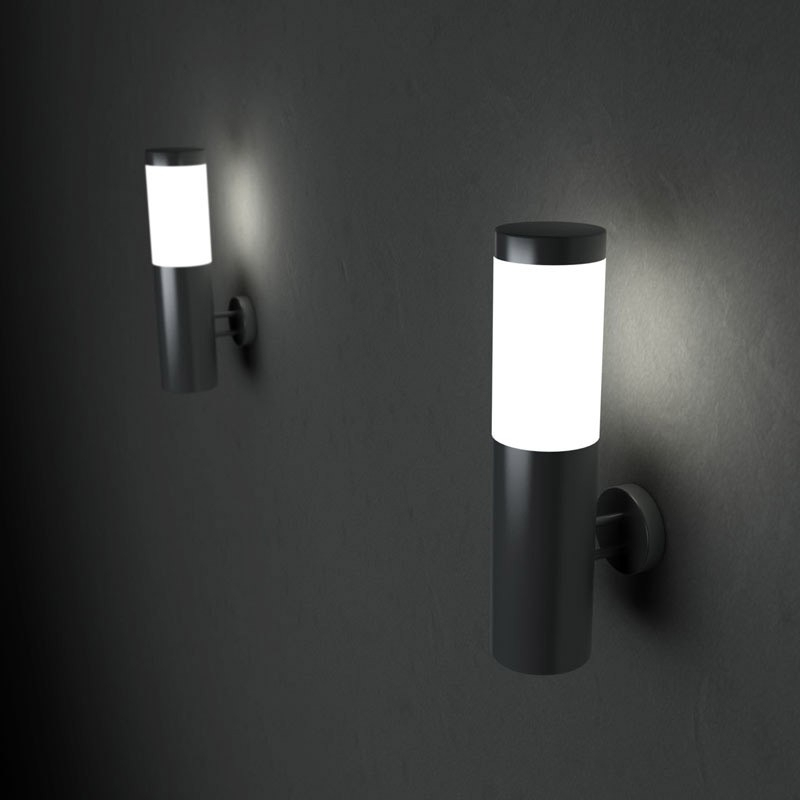 Solarcentre Canterbury Solar Led Outdoor Wall Light - Lighting Direct intended for Black Outdoor Led Wall Lights (Image 8 of 10)
