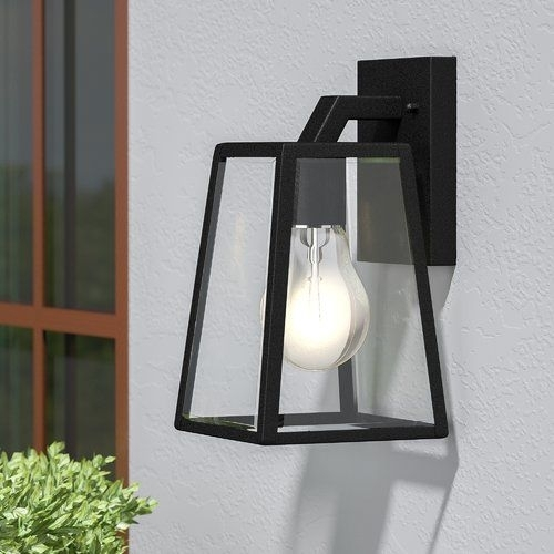 Sowders 1-Light Outdoor Wall Lantern | Outdoor Wall Lantern, Outdoor for Outdoor Wall Lighting at Wayfair (Image 9 of 10)