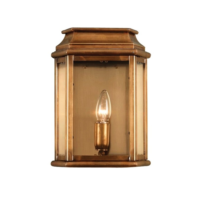 St Martins Half Lantern - Brass - Lighting Direct with regard to Half Lantern Outside Wall Lights (Image 10 of 10)