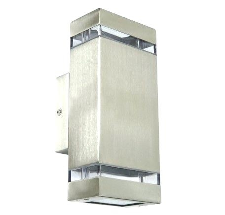 Stainless Steel Exterior Lights 2 Light Wall Bracket In Beacon Pertaining To Beacon Lighting Outdoor Wall Lights (Image 10 of 10)
