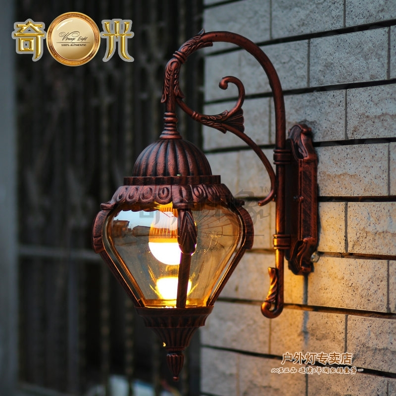 Stainless Steel Outdoor Wall Lamp American Style 220V Garden Wall pertaining to High End Outdoor Wall Lighting (Image 10 of 10)