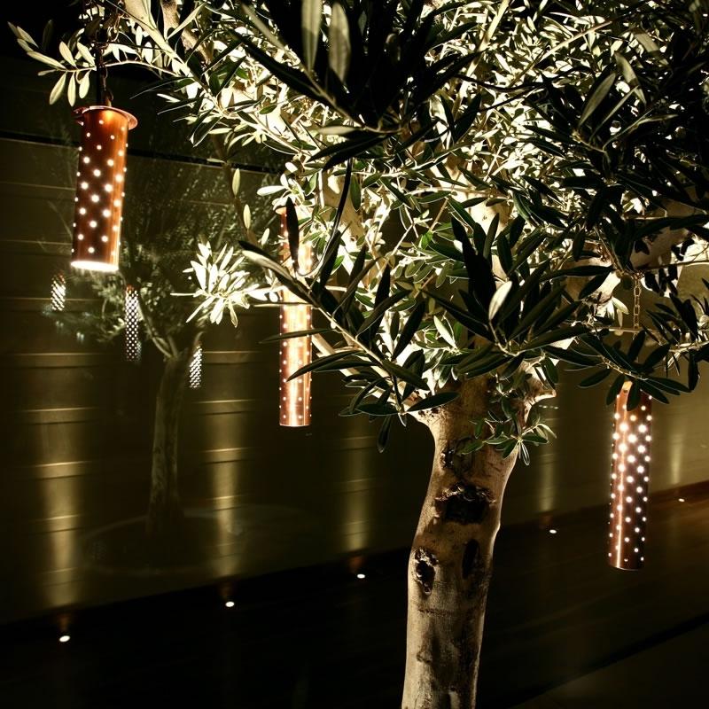 Starliter Led Tubular Pendant | Garden & Exterior | John Cullen Lighting pertaining to Hanging Lights In Outdoor Trees (Image 9 of 10)