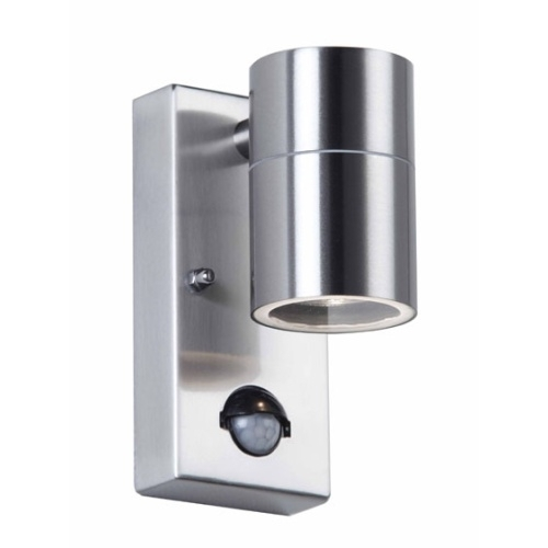 Steel And Chrome Outdoor Wall Lights | The Lighting Superstore intended for Chrome Outdoor Wall Lighting (Image 8 of 10)