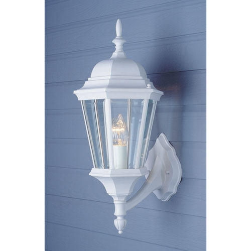 Stylish Outdoor Wall Light White Tin Maxi Double In Lights for White Outdoor Wall Lighting (Image 6 of 10)