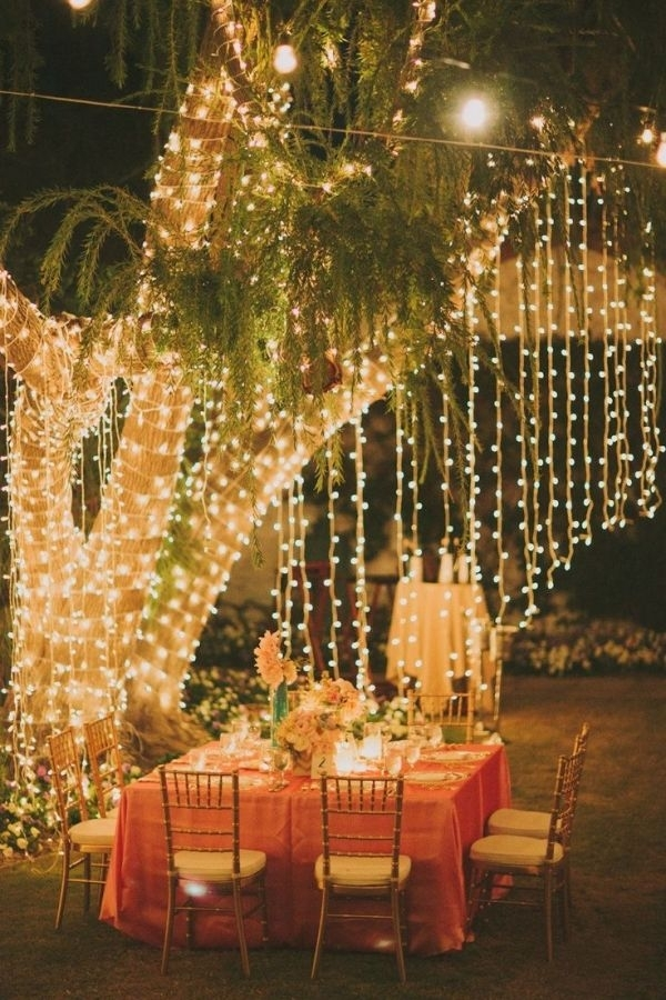 Tablescape ~ Hanging Lightstamidp | Pretty | Pinterest | Hanging with Outdoor Hanging Lights For Trees (Image 10 of 10)