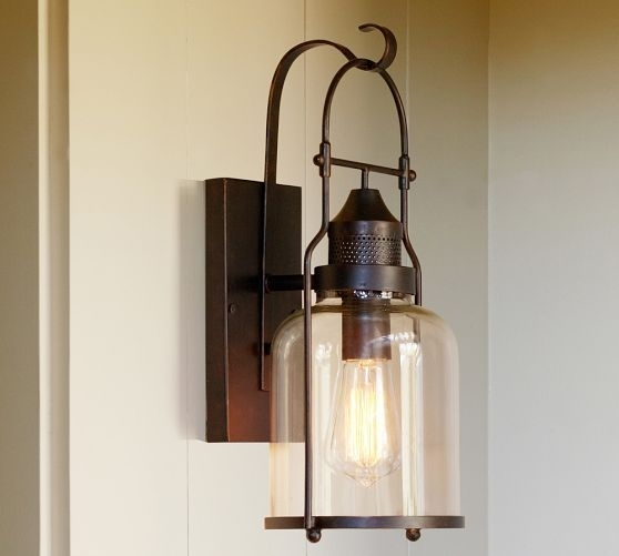 Taylor Indoor/outdoor Sconce | Front Porches, Indoor Outdoor And Porch within Pottery Barn Outdoor Wall Lighting (Image 9 of 10)