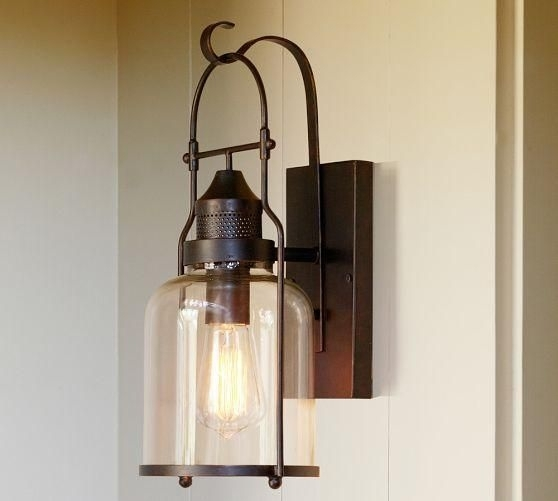 Taylor Sconce Light From Pottery Barn | Outdoor Patio Ideas For Your regarding Pottery Barn Outdoor Wall Lighting (Image 10 of 10)