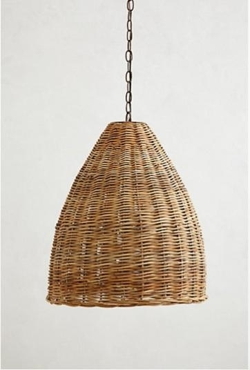 The Incredible Rattan Hanging Lamp Pertaining To Household inside Outdoor Rattan Hanging Lights (Image 10 of 10)