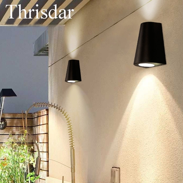 Thrisdar 10W Modern Ip65 Waterproof Led Wall Light Aluminum Outdoor with regard to Aluminum Outdoor Wall Lighting (Image 7 of 10)