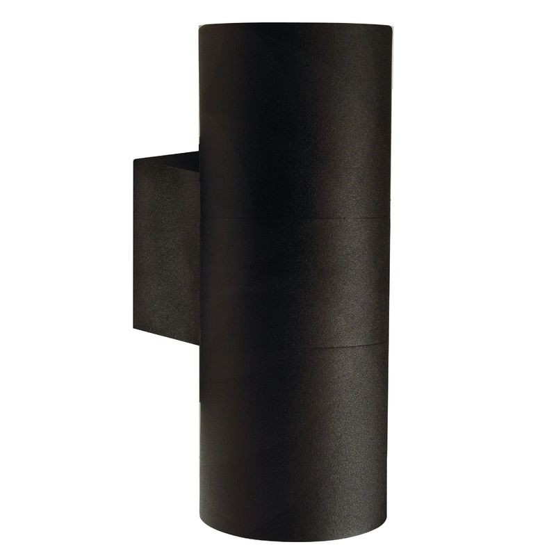 Tin Maxi Double Outdoor Wall Light - Black in Black Outdoor Wall Lighting (Image 9 of 10)