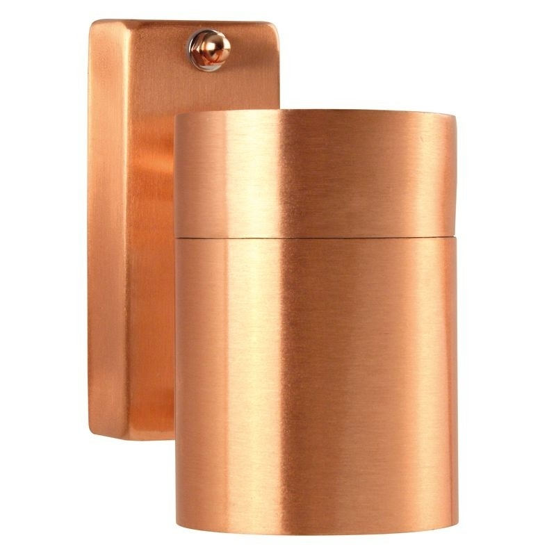 Tin Single Outdoor Wall Light - Copper inside Copper Outdoor Wall Lighting (Image 10 of 10)