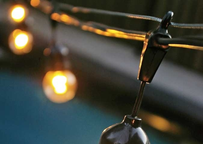 To Hang Outdoor Globe String Lights throughout Hanging Outdoor Lights On Wire (Image 10 of 10)