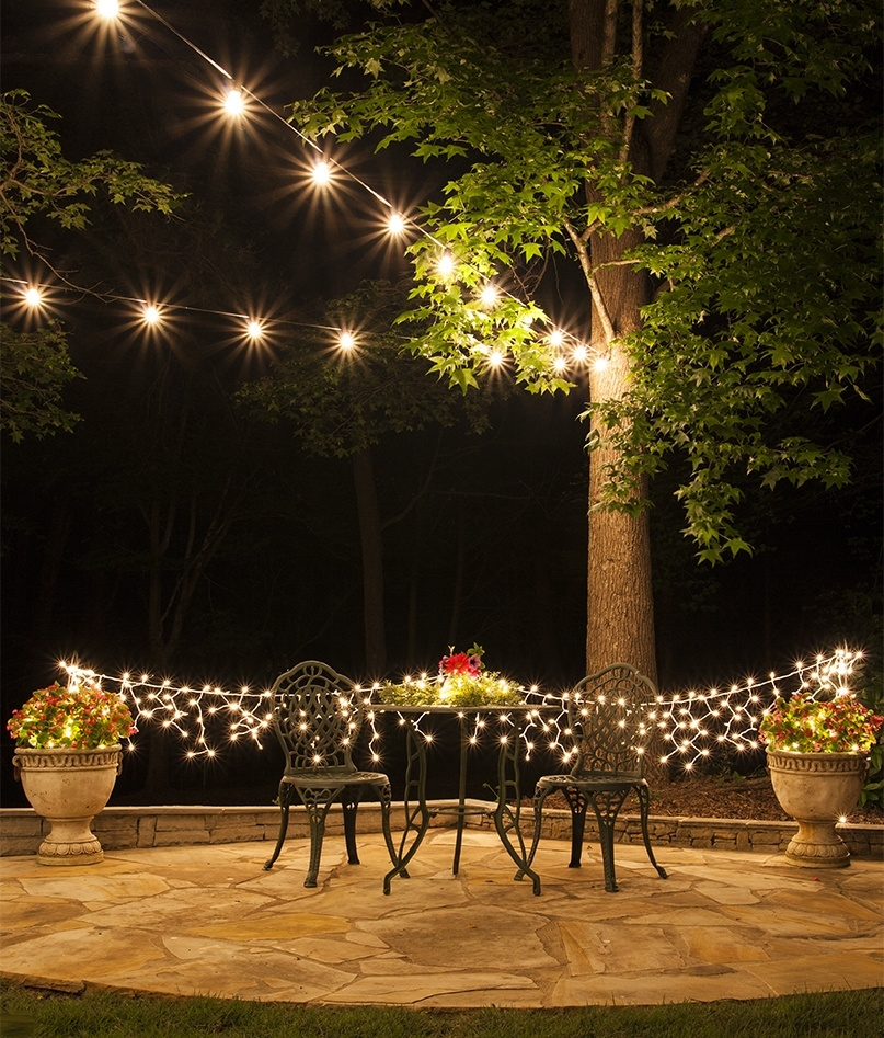 To Plan And Hang Patio Lights in Hanging Lights on Large Outdoor Tree (Image 10 of 10)
