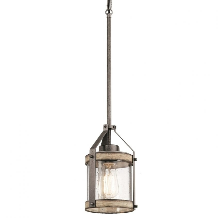 Top 35 Preeminent Rustic Clear Glass Pendant Light With Shop pertaining to Outdoor Hanging Lanterns At Lowes (Image 10 of 10)