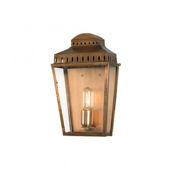 Traditional Georgian Solid Antique Brass Period Outdoor Wall Lantern Regarding Brass Outdoor Wall Lighting (View 5 of 10)