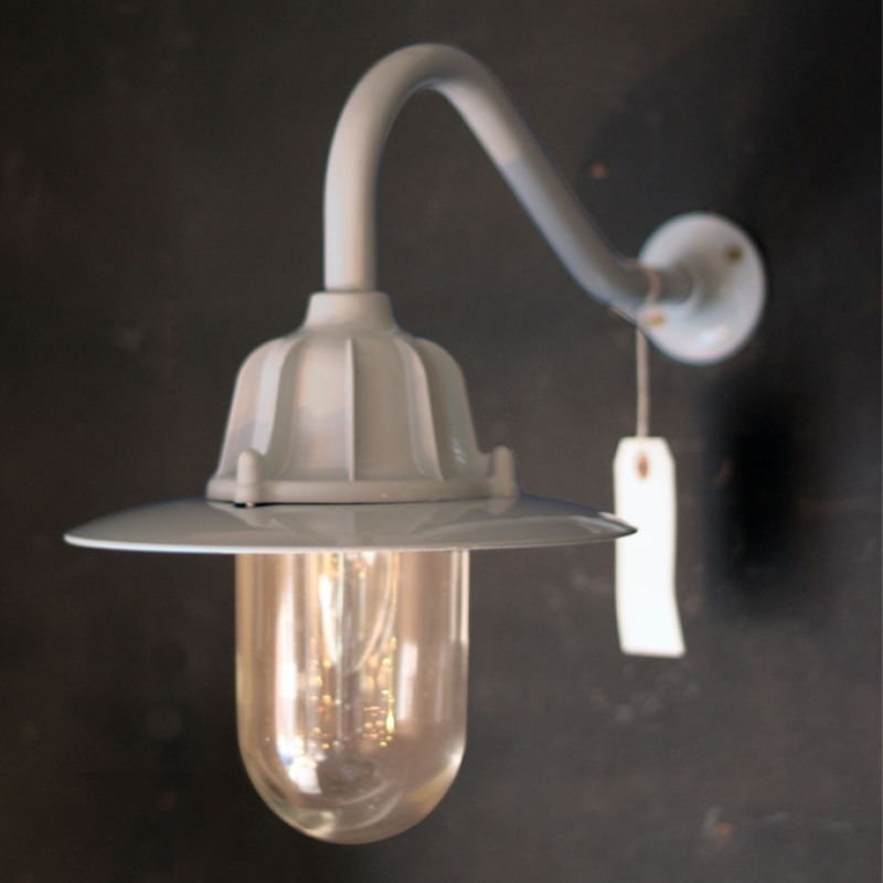 Traditional Swan Neck Outdoor Wall Light Ip64 In Grey Intended For throughout Traditional Outdoor Wall Lighting (Image 9 of 10)
