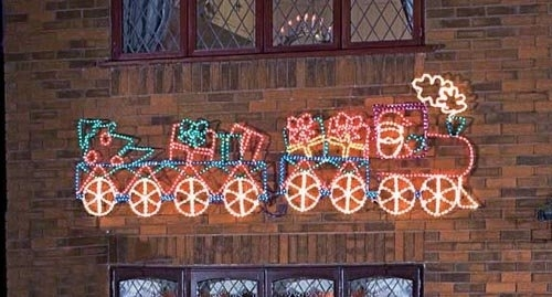 Train Outdoor Silhouette,christmas Lights – Buy Holiday Light Pertaining To Outdoor Wall Xmas Lights (View 3 of 10)