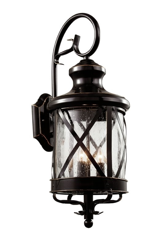 Transglobe Lighting 4-Light Outdoor Wall Lantern & Reviews | Wayfair in Outdoor Wall Lantern By Transglobe Lighting (Image 8 of 10)