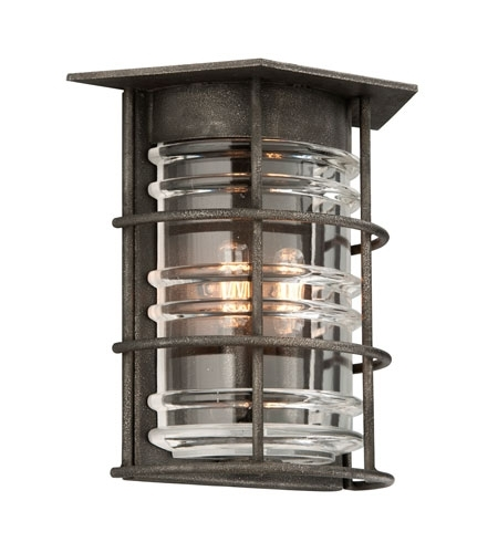 Troy Lighting B3792 Brunswick 2 Light 12 Inch Aged Pewter Outdoor Within Troy Lighting Outdoor Wall Sconces (Image 6 of 10)