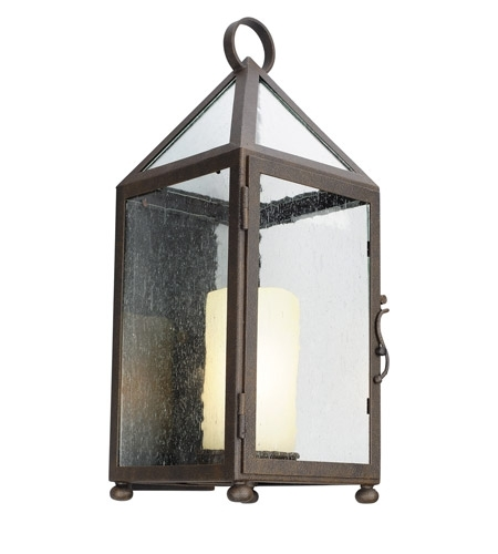 Troy Lighting B4472 Hidden Hills 1 Light 21 Inch Centennial Rust With Troy Lighting Outdoor Wall Sconces (Image 7 of 10)