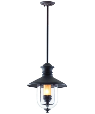Troy Lighting F9363 Old Town 1 Light Outdoor Hanging Lantern pertaining to Troy Outdoor Hanging Lights (Image 10 of 10)