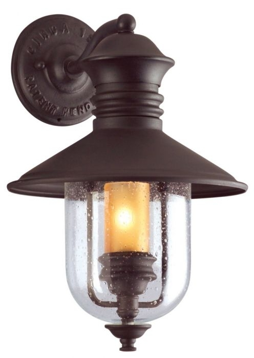 Troy Lighting Old Town 1 Light Wall Lantern – Outdoor Wall Lights Regarding Troy Lighting Outdoor Wall Sconces (Image 10 of 10)
