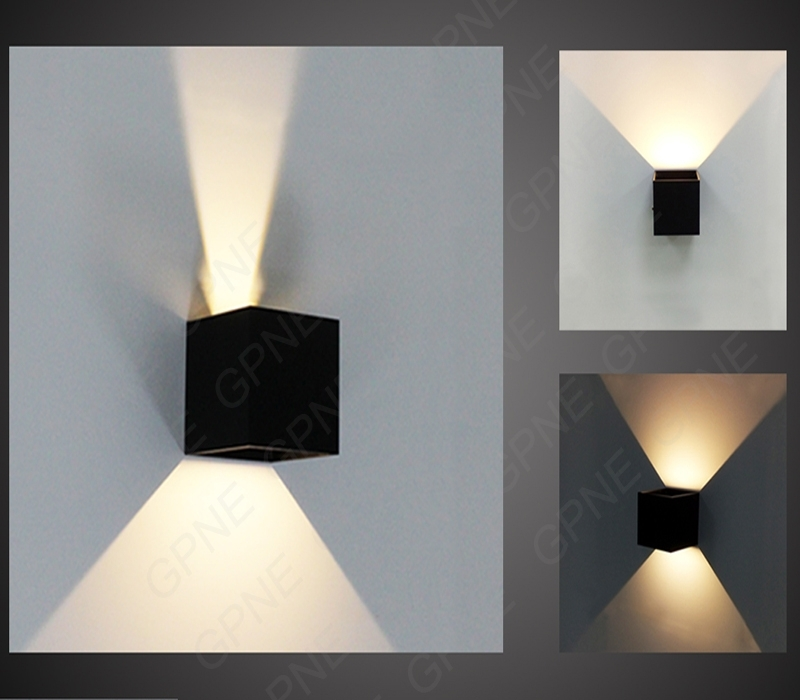 Tube Led Indoor Or Outdoor Half Cylinder Up And Down Wall Light regarding 12 Volt Outdoor Wall Lighting (Image 7 of 10)