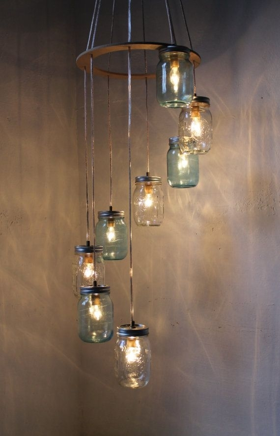Unique Home Accents That Would Brighten Anyone's Day | Mason Jar pertaining to Outdoor Hanging Glass Lights (Image 9 of 10)