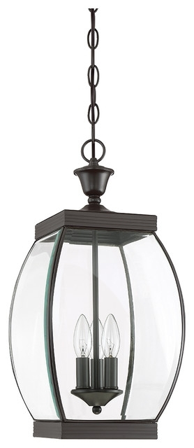 Urban Ambiance - Luxury Colonial Bronze Outdoor Pendant Light, Large with Houzz Outdoor Hanging Lights (Image 8 of 10)