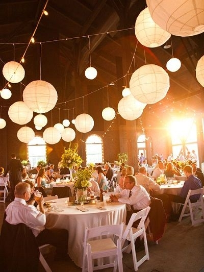 Use Paper Lanterns To Light Up Your Outdoor Wedding | When I Say I in Outdoor Hanging Paper Lantern Lights (Image 10 of 10)