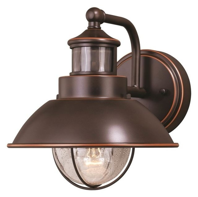 "Vaxcel Harwich Dualux 8"" Outdoor Wall Light, Burnished Bronze with regard to Beach Outdoor Wall Lighting (Image 9 of 10)"